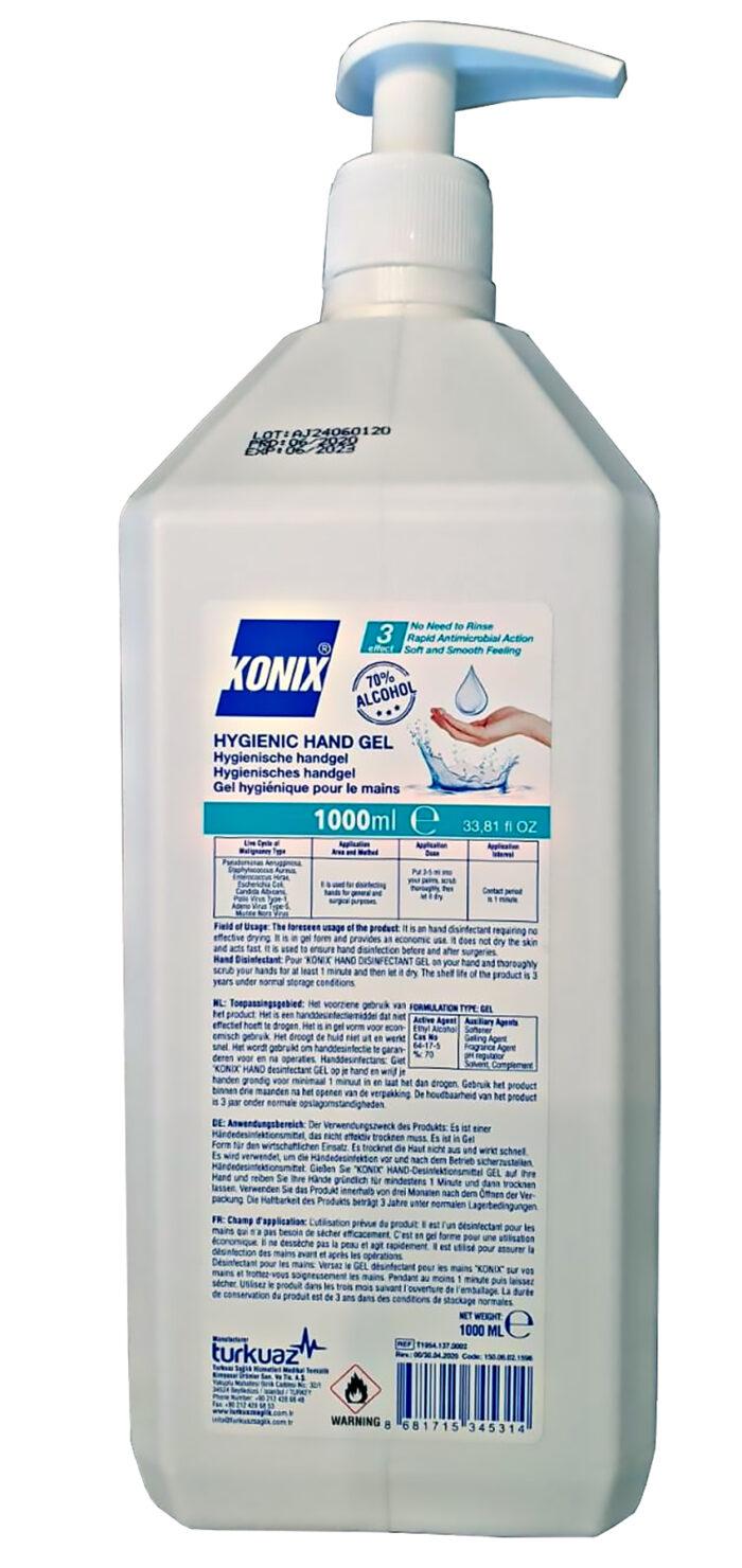 KONIX HANDGEL 1.000 ml